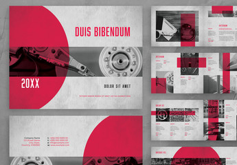 Catalog Layout with Red Accents