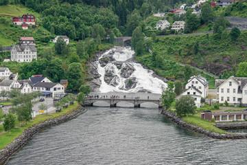 In Hellesylt am Sunnylvsfjord, Norwegen
