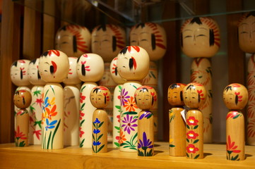 Japanese traditional Wood carving doll