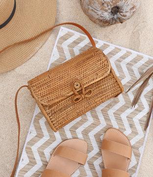 fashionable handmade natural organic bag. Trendy eco bag