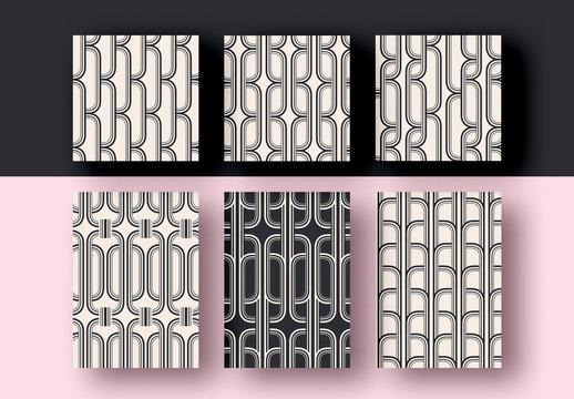 Black and White Pattern Set Layouts