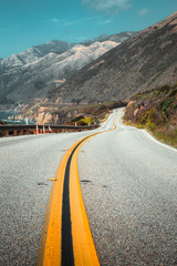 Fototapete - Famous Highway 1 at Big Sur, California Central Coast, USA