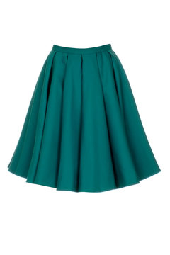 Green skirt isolated on white