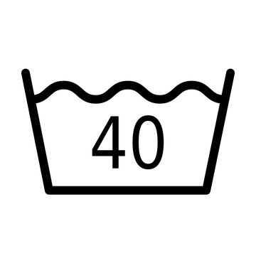 Wash temperature 40 degrees symbol