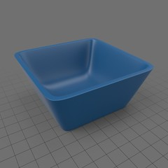 Square cereal bowl