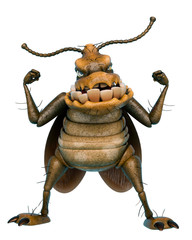 cockroach cartoon got the power
