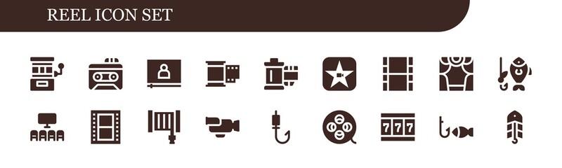 reel icon set