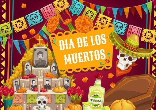 Day of Dead Mexican Dia de los muertos altar photo