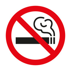 No smoking sign on white background. Vector