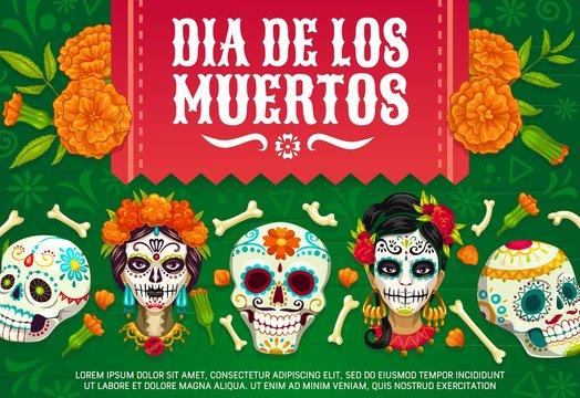 Mexican Day of Dead skulls, Dia de los Muertos