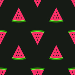 Watermelon pieces. Seamless pattern fruity