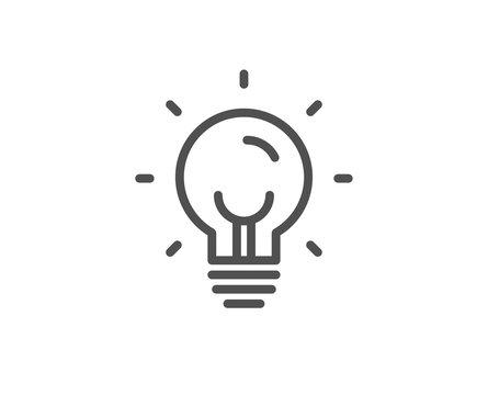 Energy line icon. Lightbulb sign. Electric power symbol. Quality design element. Linear style energy icon. Editable stroke. Vector
