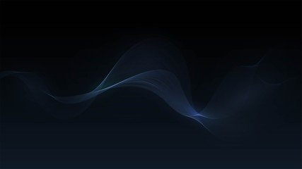 Dark background with transparent wave, smoke, steam, abstract background