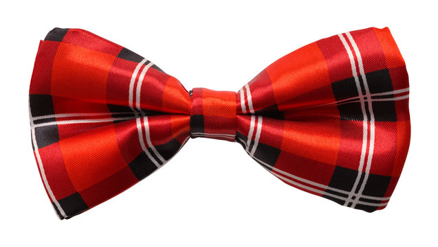 Red Plaid Bow Tie Cut Out