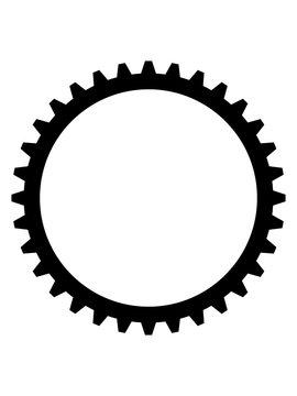 mechanisch zahnrad mechanisch rund zacken uhrwerk maschine bauen mechaniker design cool clipart logo symbol kreis kreislauf drehen