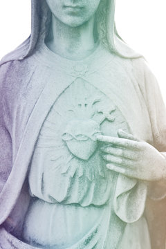 Heart of Virgin Mary. Immaculate heart of Saint Mary Our lady. Blessed Mother of Jesus Christ.
