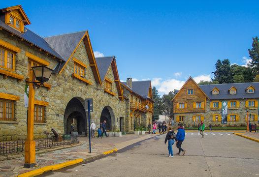 Civic Centre, Centro Civico and main square in downtown Bariloche City San Carlos de Bariloche, Argentina