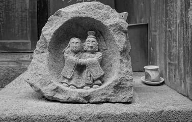 石像カップル