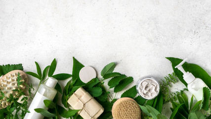 Natural Skincare and leaves