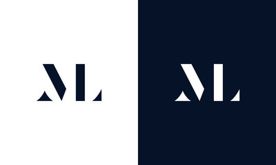 Minimalist line art ML logo