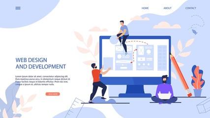 Fototapeta Banner is Written Web Design and Development.