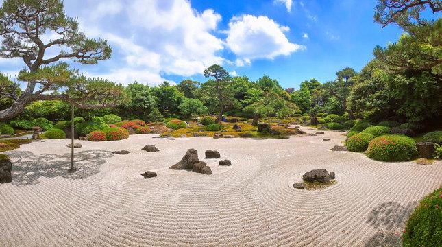 Traditional japanese stone garden for meditation