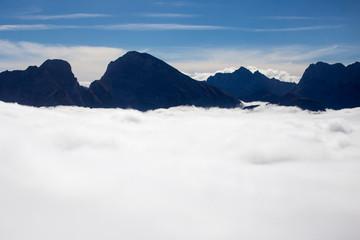 Wolkenmeer in den Alpen