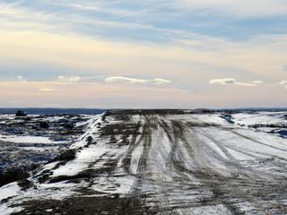 The road to nowhere in Kuujjuak, Nunavik