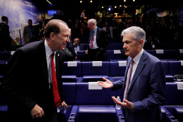"""World Bank President Malpass and Federal Reserve Board Chairman Powell attend a conference entitled """"Bretton Woods: 75 years later"""" in Paris"""
