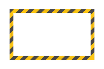 Black Stripped Rectangle. Blank Warning Sign. Vector