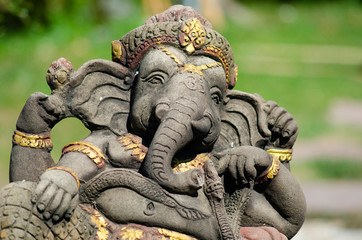 Ganesha is the god of success. That Hindus in India And Buddhists around the world respect And worship