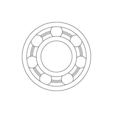 Ball bearing wheel mechanical icon