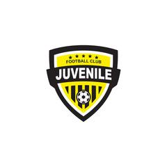 Football shield logo design vector template