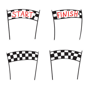 start and finish banner