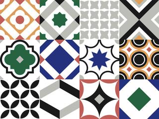 Seamless tile pattern. Vintage decorative design elements. Azulejo vector template.