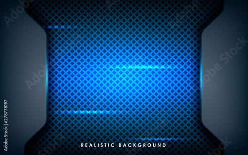 Blue Abstract Dimension On Black Texture Background
