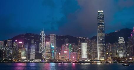 Wall Mural -  Hong Kong city landmark at night