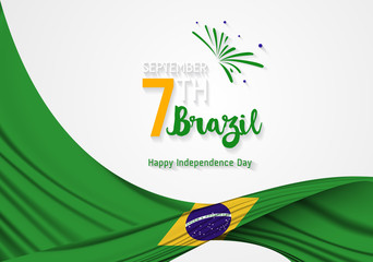 Brazil Independence Day. September 7, Independence day of Brazil vector (Independência). Wall mural
