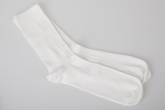 White socks isolated on white background