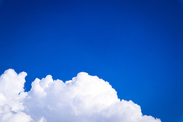 Türaufkleber Dunkelblau Beautiful abstract cloud and clear blue sky landscape nature background and wallpaper