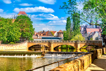 View on historic Architecture in Nuremberg, Germany