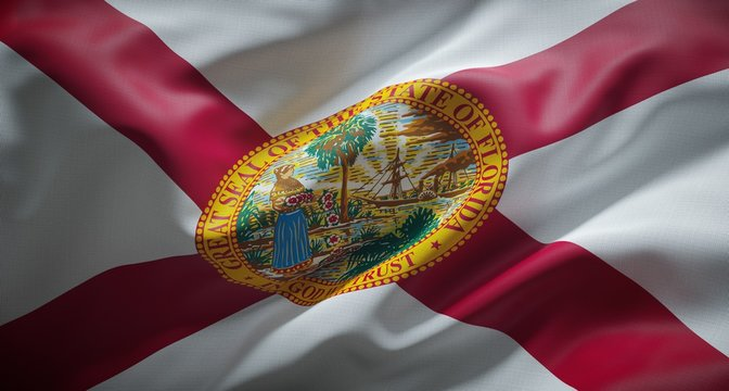 Official flag of the state of Florida. United States of America.