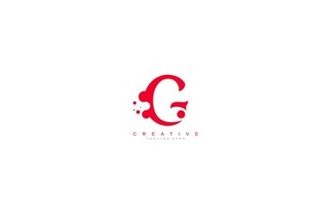 creative letter G with dots shape trendy abstract logo design