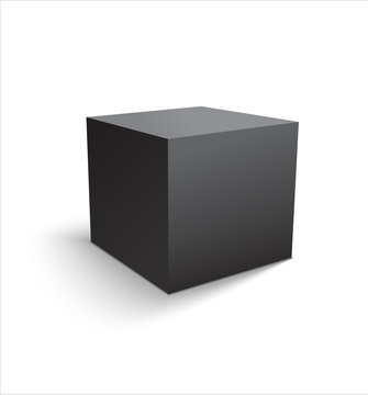 Box black icon. Template for your design. illustration.