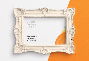 Ornate Picture Frame Mockup