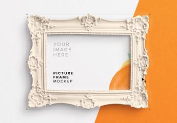 Ornate Picture Frame Mockup