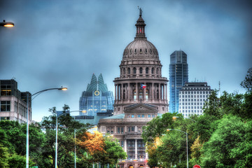 Autocollant pour porte Texas capitol building over sky background austin texas usa
