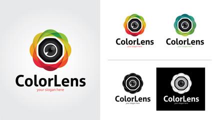 Photography creative and minimalist logo template Set