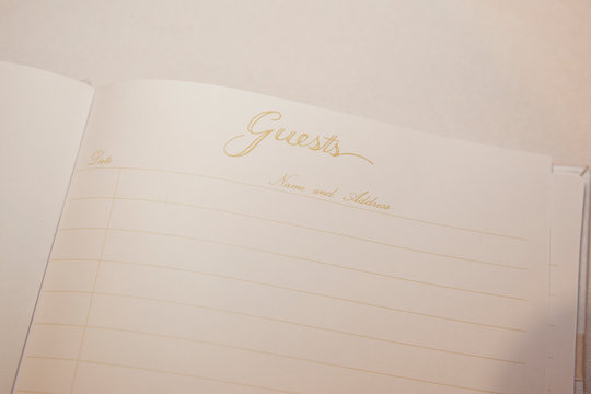 Guest book blank