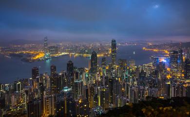 Hong Kong Central skyline and Victoria Harbor, Hong Kong, China Fotomurales